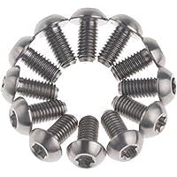 Wanyifa - Tornillos de titanio para discos de freno de bicicleta (Torx M5 x 10cm, 12 unidades), grado 5, gris