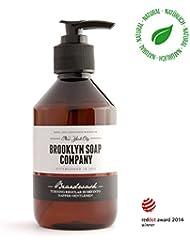 shampoing à barbe, savon à barbe Beard Wash 250 ml ✔ nettoyage et entretien barbe - cosmétiques naturels de la BROOKLYN SOAP COMPANY ®✔ l'entretien barbe naturel pour l'homme moderne et idée cadeau