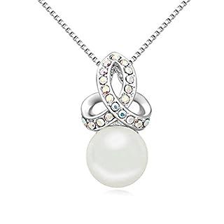 Daesar Schmuck Damenkette Vergoldet Ball Halskette Zirkonia Strass Anhänger Halskette für Frauen