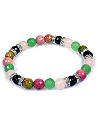 Crystu Rose Quartz Bracelet - Rhodochrosite Bracelet - Garnet Bracelet - Unakite Bracelet - Green Jade/Aventurine...