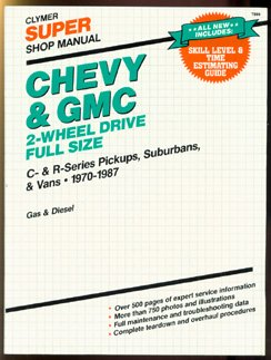 Chevy and GMC 2-Wheel Drive- Super Shop Manual: C-Series Pickups- Suburbans and Vans- 1970-1985- Gas and Diesel