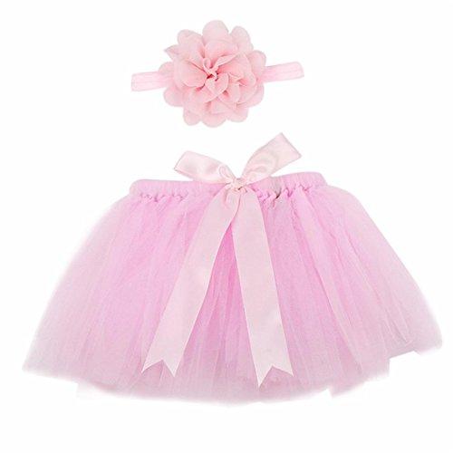 igt Schöne Rock, u. expectating Kleid Kostüm Foto Fotografie Prop Outfits + 1Blume Haarband (Baby Geburt Halloween-kostüm)