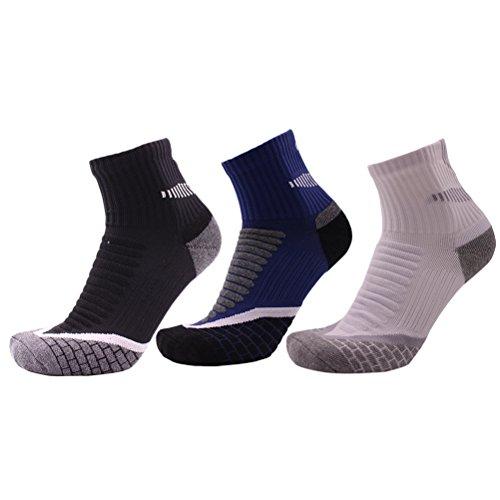 Zhuhaitf Herren Men's Antiskid Wicking Multi Performance Cushion Crew Hiking Socken Breathable & Soft Sportsocken (3 Pair Pack) (3-pair Crew Pack)