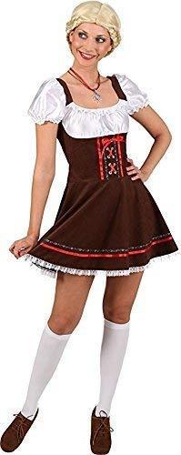 (Fancy Me Damen braun Taverne Bier Mädchen Deutsches Oktoberfest Bayrisch Kostüm Kleid Outfit UK 8-16 - Braun, UK 14 (EU 42))