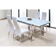mesa comedor extensible cristal