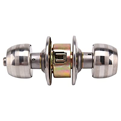 MultiWare Stainless Steel Door Knobs Handle Door Lock Passage Entry with Key produced by OEM - quick delivery from UK.