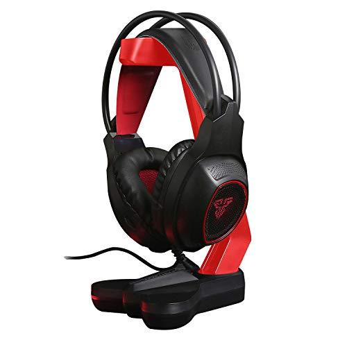 TechSide Kopfhörerhalter mit Mikrofon Gaming rot