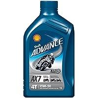 Olio motore Shell Advance AX7 15W50 4T API SM / JASO MA2 - 1 Litro