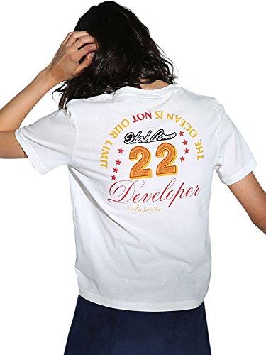 Choies Damen T Shirt Sommer Oberteile Rundhals kurzarm Muster Basic Sport Bluse coole Oversize Funny Tops Shirts 22