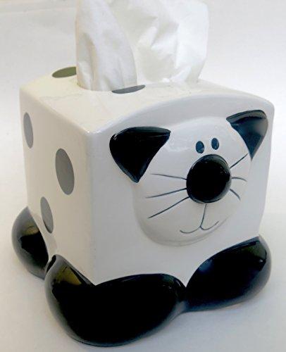 Ceramica Black & White Kitty Cat Themed