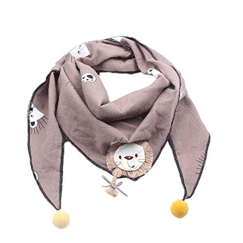 Timmershabi Kinder Schals Niedlichen Lion Baby Baumwolle Schal Jungen Mädchen Tragen Winter Warm Warm Newborn Geschenk (Khaki)