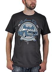 Batman - camiseta del batmóvil retro - vintage - estampado frontal - cuello redondo - algodón - gris - M