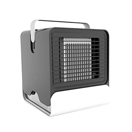 Preisvergleich Produktbild SUPERLOVE Mini Klimaanlage Lüfter USB Wiederaufladbare Tragbare Geräuscharme Multifunktions-Kühler Und Luftbefeuchter 2-in-1 Für Office Home