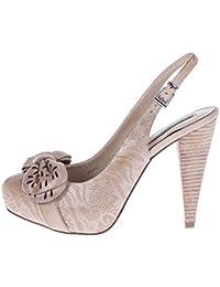 ROBERTO BOTELLA - Zapato correa al talon con adorno láser - Color Beige - Combi1 - Talla 40