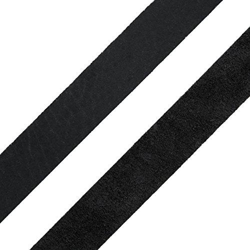 Auroris - Lederband flach schwarz Breite wählbar 3/4/5/8/10/15/20/25/30/35/40 mm - Variante: Breite 25mm / Länge 1m