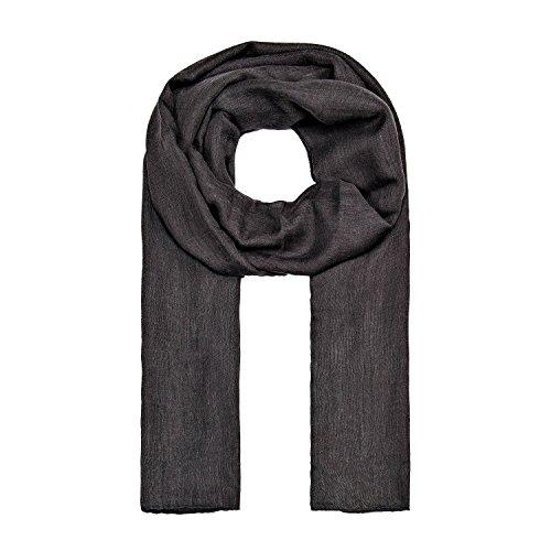 ManuMar Schal einfarbig   Hals-Tuch in Uni-Farben   einfarbig Dunkel-Grau als perfektes Sommer-Accessoire   klassischer Damen-Schal - Das ideale Geschenk für Frauen