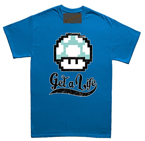 Renowned Get a Life ! Unisex - Kinder T Shirt Blau