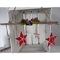 Türkranz Tilda Art Türdeko Weihnachten Fensterdeko Winter Landhaus Sterne
