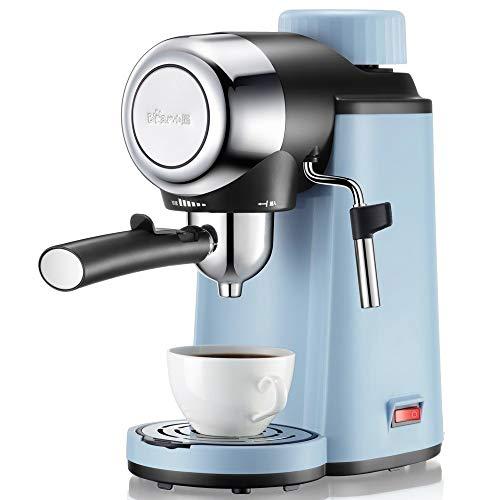 XXJF Italienische Phantasie Kaffeemaschine Teflon Liner Material geeignet for Büroangestellte Mini-Kaffeemaschine 5 Bar Hochdruckextraktion und Milchschaum-Kombination Ein-Knopf-Druckentlastung Design