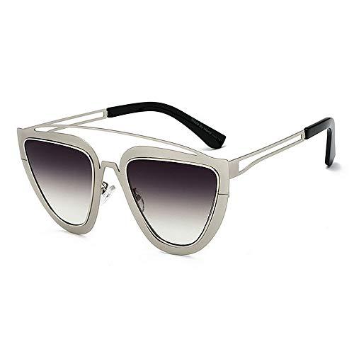 Aihifly Sonnenschutz Vintage Cat Eyes Sonnenbrille für Frauen Männer UV Schutz farbige Linse im Freien Fahren Reisen Sommer Strand (Farbe : C4)