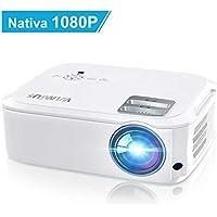 Videoproiettore,WiMiUS 5500 Lumen Nativa 1080P LED Proiettore Full HD Con 300'' Display Supporto 4K Per presentazione Computer PPT, Smartphone, PC,PS4,Tvbox,Laptop