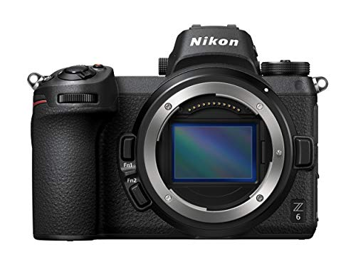 "Nikon Z6 - Cámara sin Espejos de 24.5 MP (Pantalla LCD de 3.2"", resolución 4K/UHD, Sensor CMOS, Punto de mira 21 mm, ISO 100-51200, Disparo Continuo de 12 fps) Color Negro"