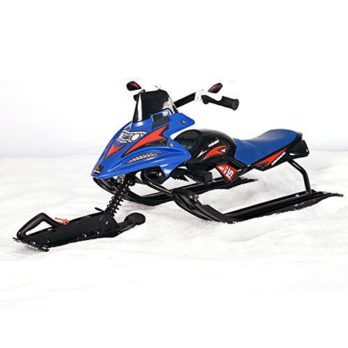 ZYSMC Skischuh, Kinder-Erwachsenen-Schneemobil, Heimski, Schneemobil-Winter-Outdoor-Ski-Spielzeug,Blue