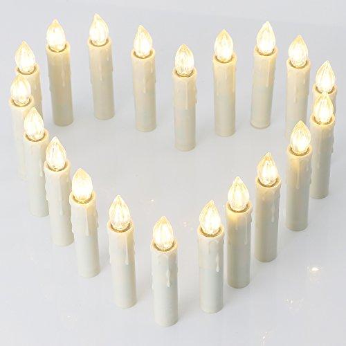 20 Led Kerzen Für Außeninnen Für Weihnachtsbaum Mit