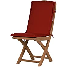 2 x Bordeauxrote Sitzauflage für Garten-Stühle & Klappstühle, 88 x 40 cm | Premium Polster-Auflage aus lichtechtem Dralon ✓ Maschinen-waschbares Stuhl-Kissen für Gartenmöbel ✓ Höchster Sitzkomfort als Sitzkissen für Niedriglehner