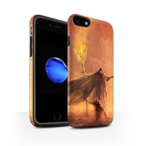 Offiziell Chris Cold Hülle / Matte Harten Stoßfest Case für Apple iPhone 7 / Gevatter Tod Muster / Dämonisches Tier Kollektion Kriegsheld/Warlock