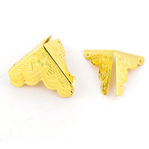 sourcingmap® 10pcs 25mmx25mm destra angolo gioielleria scatola contenitore angolo supporto protettori oro tono