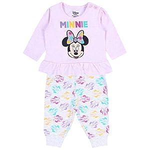 Minnie Disney Camiseta Rosa + calentadoes Gris 6