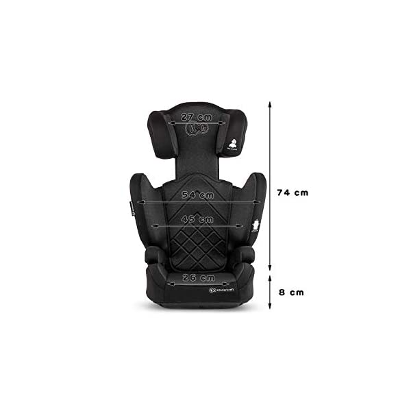 Kinderkraft Car Seat XPAND Child's Booster Seat with System ISOFIX Adjustable Headrest Side Protection Group II/III (15-36kg) to 12 Years Crashtested Safety Certificate Intertek and ECE R44/04 Black KinderKraft Car Seat - The Xpand car seat ensures safety during every journey. Secure - Equipped with fixing system ISOFIX, which guarantees a stable and safe position for your child. Alternatively, secure with car seat belts. Comfort - The wide, deep seat provides comfort even during long hours of travel and the headrest adjustment allows parents to adjust the seat to each child. 8