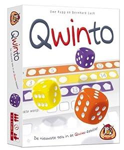 White Goblin Games Qwinto Juego de Azar Niños y Adultos - Juego de Tablero (Juego de Azar, Niños y Adultos, 15 min, 8 año(s), Holandés, - 3 dobbelstenen - 1 scoreblok - 4 potloden - spelregels)