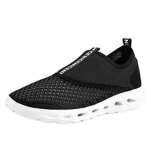 AIni Herren Schuhe,Mode 2019 Neuer Heißer Beiläufiges Paar Hohle atmungsaktive leichte Turnschuhe Soft Bottom Mesh Laufschuhe Partyschuhe Freizeitschuhe(38,Schwarz)