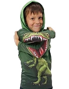 PZJ Sudadera para Niños, Chándal Suéter, niños Camiseta de Manga Larga Para, Impresión de dinosaurio encapuchada...