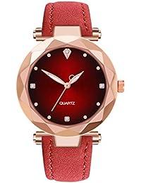 796120cd4f7d Relojes De Cuarzo para Mujer con Reloj De Diamantes Reloj De Mujer Reloj De  Cuarzo Correa De Cuero Dial De Acero Inoxidable Reloj De Pulsera…