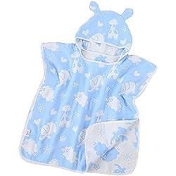 hellomiko Asciugamano da bagno Asciugamano da piscina Asciugamano da spiaggia Stampa Asciugamano con cappuccio Cartoon Impermeabile Microfibra con cappuccio