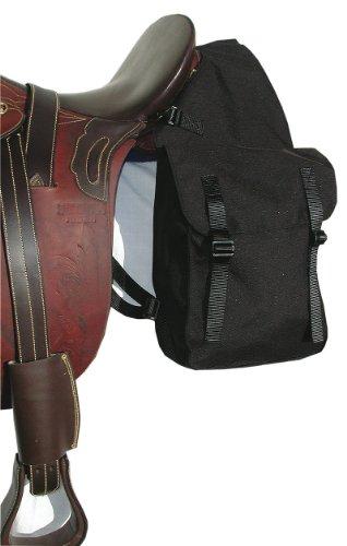 Satteltasche für Pferde | Packtasche | Doppelpacktasche aus Nylon/Cordura, schwarz