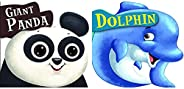 Cutout Board Book: Giant Panda+Cutout Board Book: Dolphin (Set of 2 Books)