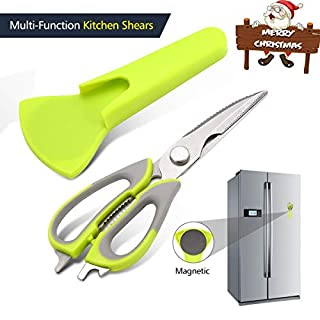 Latest Magnetic Kitchen Scissors Pathonor Heavy Duty Sharp Kitchen Shears High Carbon Stainless Steel ,Multi-Purpose Scissor, Poultry Shear for Chicken, Meat, Fish, Herbs, BBQ