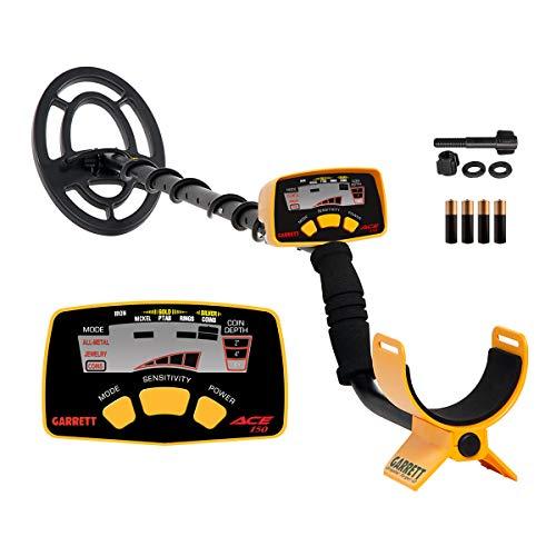 GARRETT ACE 150 - Detector de metales, color negro, amarillo