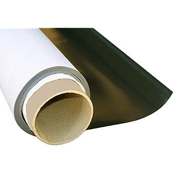 Eisenfolie Ferrofolie selbstklebend weiß matt 0,8mm x 20cm x  50cm