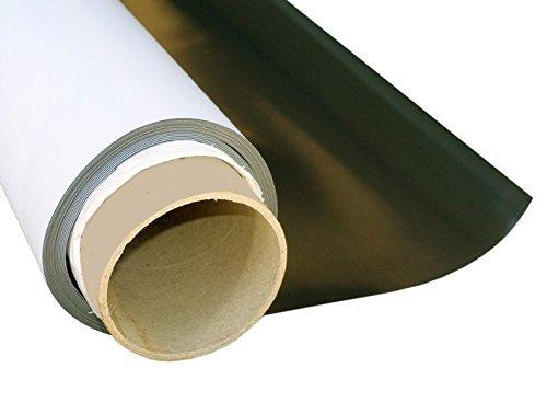 Magnetfolie weiß matt beschichtet 0,3mm x 50cm x 62cm - flexible magnetische Folie, in Digitaldruck bedruckbar, haftet auf allen metallischen Oberflächen