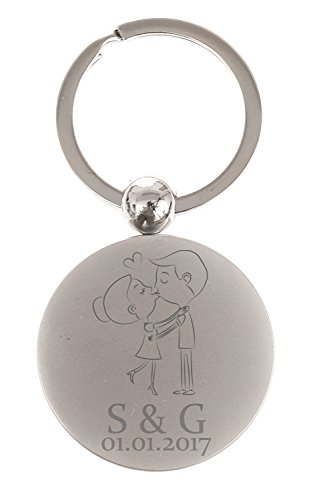 personalised-kissing-couple-keyring-keychain-cute-couple-valentines-day-gift-font-3-tempus-sans-itc-
