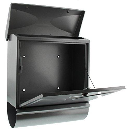 BURG-WÄCHTER, Briefkasten-Set mit integriertem Zeitungsfach, A4 Einwurf-Format, Verzinkter Stahl, Futura 926 Si, Silber - 4