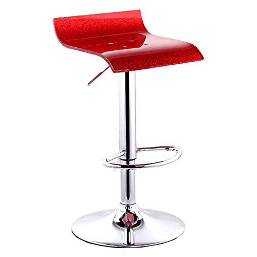 Schwenk-chrom-basis (GJM Shop höhenverstellbarer 360 ° schwenkbarer Bar Platz Acryl Stuhloberfläche Barhocker Einfacher Lift Barhocker Bar Haushalt Hoher Stuhl Empfangsstuhl Basis 38,5 Cm --- Schwamm + Kunstleder / Massivholz Stuhloberflä ( Farbe : 3 ))