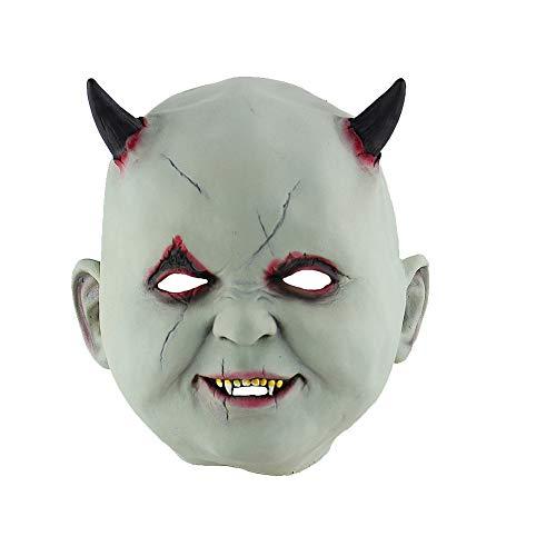 Kostüm Zombie Hause Zu - Yisily Halloween-Maske kleiner Teufel-Vampir Halloween Maske Horror Clown-Maske Scary Maskerade Masken Horror Zombie Haus Maske Kostüm für Halloween