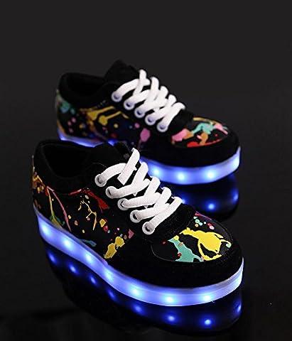 Table Ronde Legere - Chaussures légères Graffiti LED chaussures décontractées de