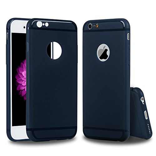 iPhone 6 6s Custodia in Gomma TPU Gel Silicone Satinate Antiscivolo Cover 4.7